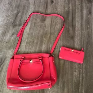 Kate Spade Beacon Court Leather Bundle Hot Pink